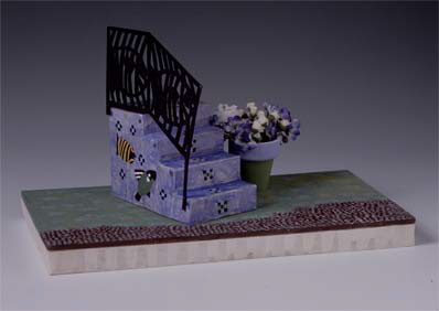 Mixed-media model of a proposed stoop.