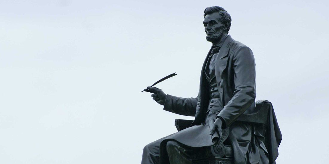 Abraham Lincoln sculpture by Randolph Rogers