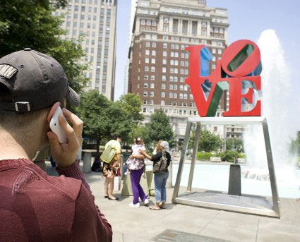 User calls Museum Without Walls Audio for Robert Indiana's LOVE sculpture