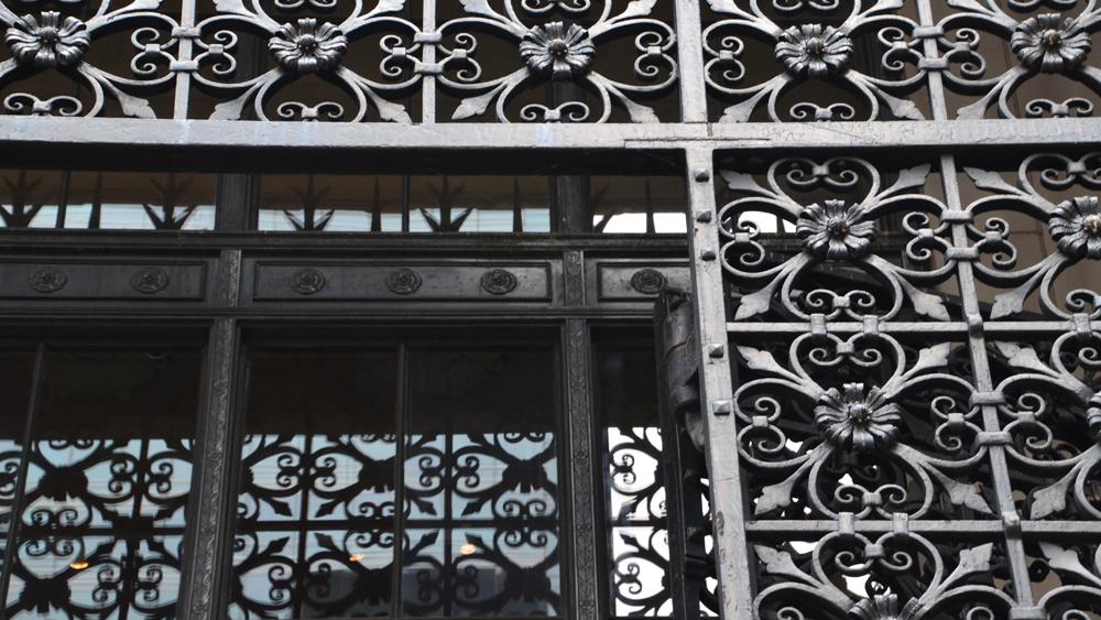 Packard Building gates