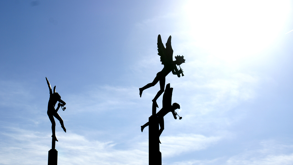 Silhouette of Carl Milles' Playing Angels