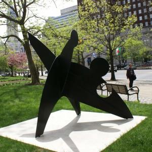 Alexander Calder's sculpture, Three Discs, One Lacking