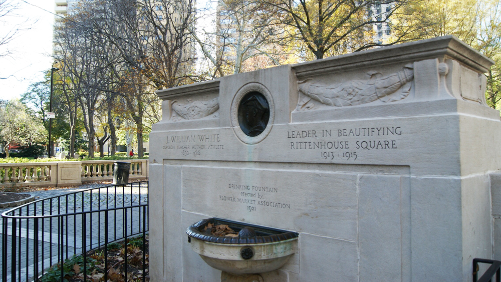 Dr. J. William White Memorial in Rittenhouse Square