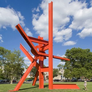 Abstract Iroquois sculpture by artist Mark di Suvero