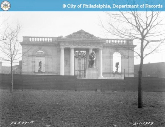 The Rodin Museum opens in 1929, designed by Cret and Gréber. Photo courtesy City of Philadelphia, Department of Records.
